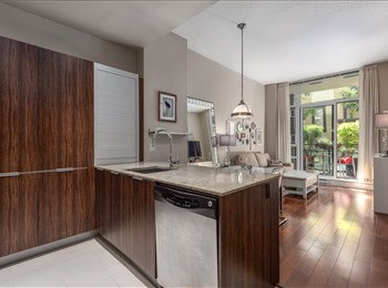 1 Bedroom with 10ft ceilings and private terrace in Yaletown